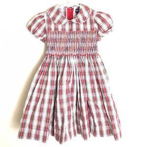 Ralph Lauren Smocked Plaid Dress 12-18 Months